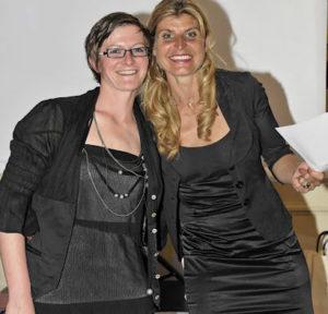 Karine Baillet et Hélène Compignie lors d'une soirée