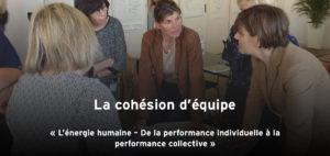 La cohésion d'équipe, thème de conférence de Karine Baillet Organisation