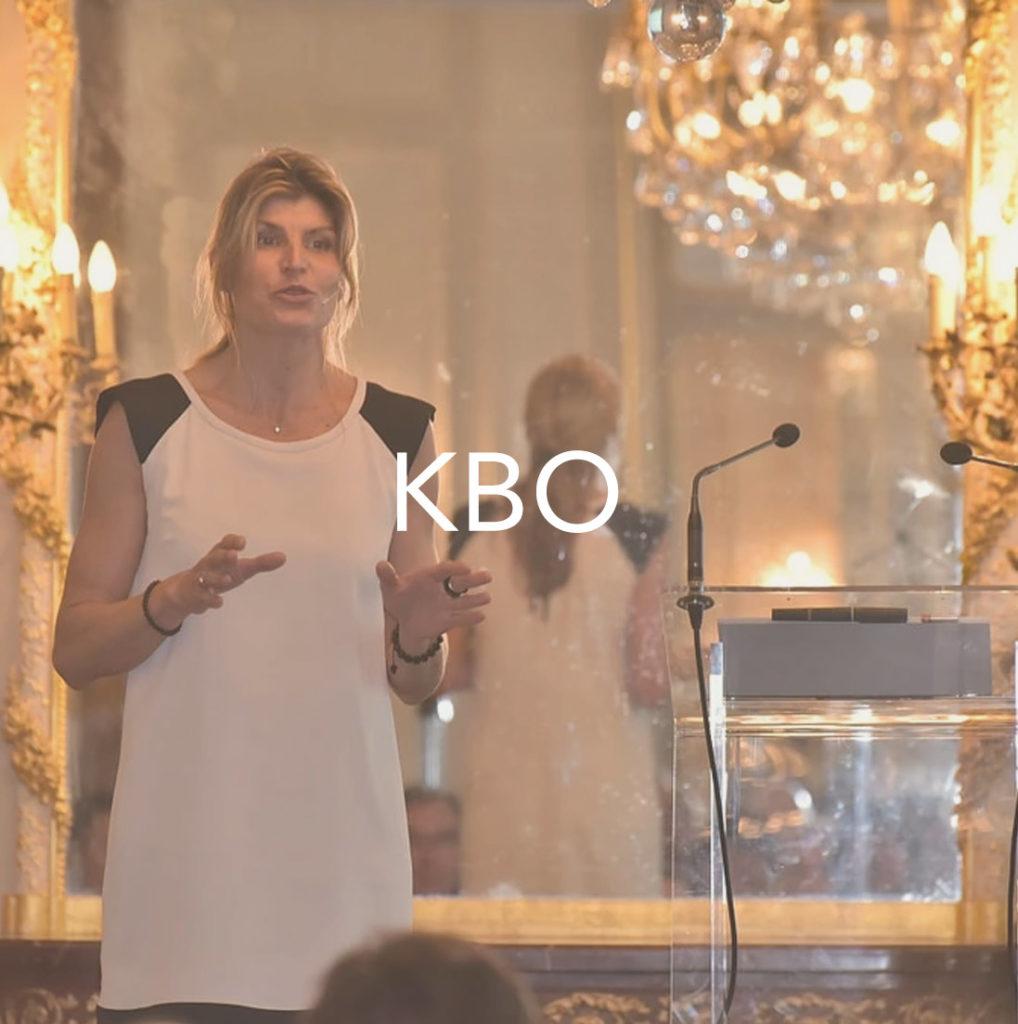 Photos de Karine Baillet en conférence pour KBO