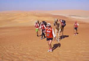 L'équipe de Karine Baillet lors d'une course à Adbudhabi
