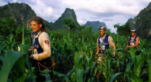 Team de Karine Baillet lors du raid gauloises au Vietnam