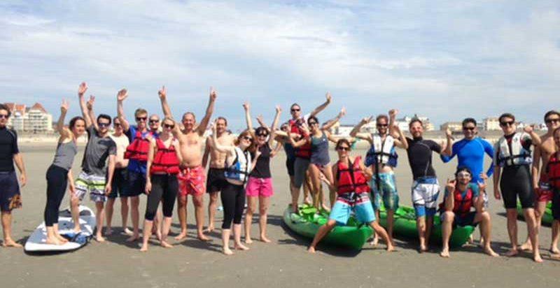Team Building organisé par Karine Baillet Organisation sur la plage