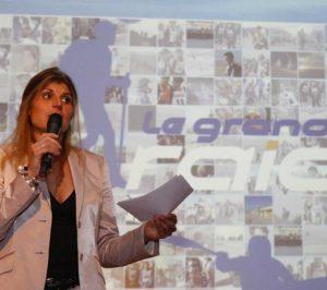 Karine Baillet lors de la présentation du Grand Raid