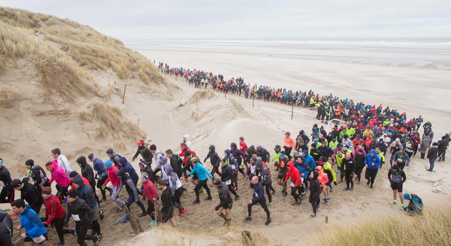 Montée des dunes du Trail D2B organisé par Karine Baillet Organisation