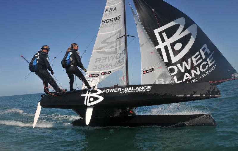 Karine Baillet sur la traversée de la manche en catamaran avec Yvan Bourgnon