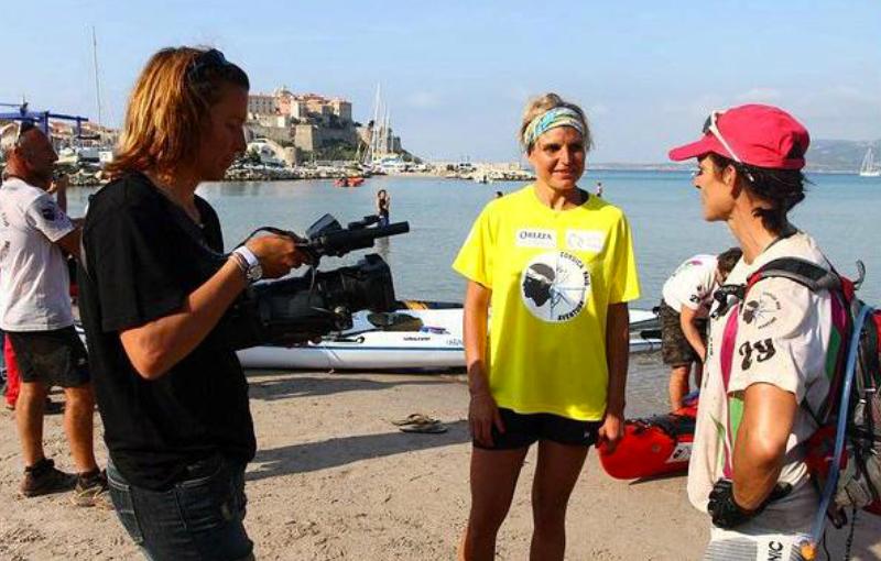 Karine Baillet sur le raid corsica