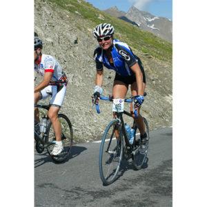 Karine Baillet lors de l'étape du Tour à vélo