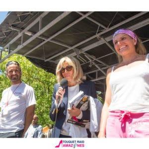 Brigitte Macron venue lors d'un événement au Touquet organisé par Karine Baillet Organisation