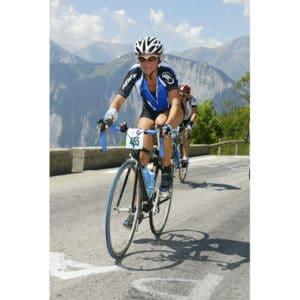 Karine Baillet pendant l'étape du Tour ASO