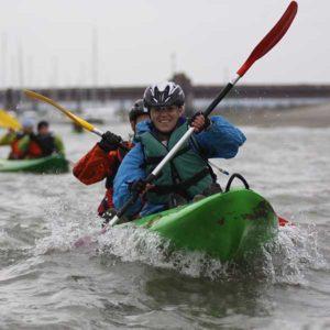 Touquet Raid Pas de Calais organisé par Karine Baillet Organisation, section canoe