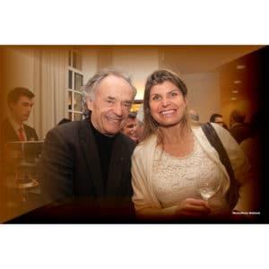 Karine Baillet et Jean Claude Casadeus lors d'une soirée à Lille
