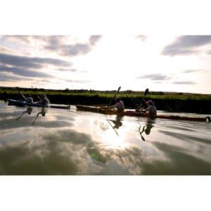 Section kayak lors d'une épreuve sportive avec Karine Baillet
