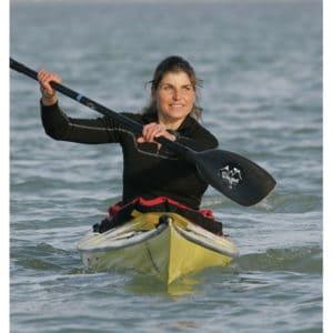 Karine Baillet en kayak de mer
