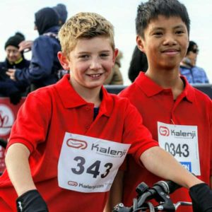 Jeunes participants au Touquet Bike&run organisé par Karine Baillet Organisation