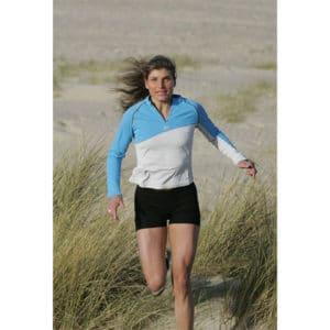 Karine Baillet en trail dans les dunes du Touquet