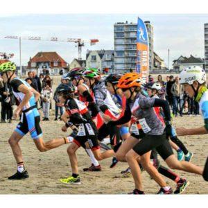 Départ du Touquet Bike&run organisé par Karine Baillet Organisation