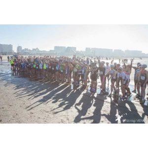 Départ du Touquet Bike&run sur la plage organisé par Karine Baillet Organisation
