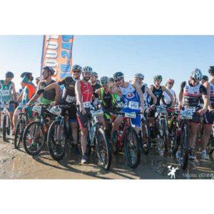 Départ du Touquet Bike&run sur la plage à VTT organisé par Karine Baillet Organisation