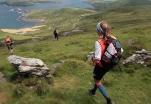 Trail en montagne de l'équipe wilsa sport capitaine Karine Baillet