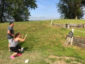 Teambuilding organisé par Karine Baillet Organisation lors d'une épreuve de tir à la sarbacane
