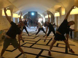 Teambuilding organisé par Karine Baillet Organisation lors de la relaxation