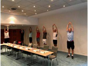 Teambuilding organisé par Karine Baillet Organisation lors d'une épreuve de bien-être